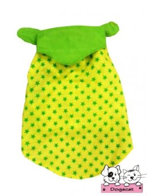 เสื้อสุนัข เสื้อหมา เสื้อน้องหมา เสื้อผ้าหมา เสื้อแมว เสื้อผ้าสุนัข ลายดาวแขนกุด สีเหลือง