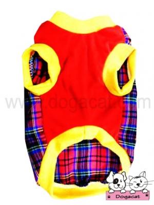 เสื้อสุนัข เสื้อหมา เสื้อน้องหมา เสื้อผ้าหมา เสื้อแมว เสื้อผ้าสุนัข เสื้อยืดสก๊อต มีเป้ สีแดง