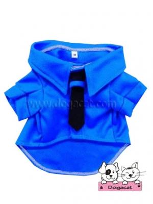 เสื้อสุนัข เสื้อหมา เสื้อผ้าหมา เสื้อแมว เสื้อผ้าสุนัข ชุดโปโล มีไทด์ มีอินธนู สีน้ำเงิน