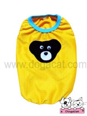 เสื้อสุนัข เสื้อหมา เสื้อน้องหมา เสื้อผ้าหมา เสื้อแมว เสื้อผ้าสุนัข ตาข่ายหมี สีเหลือง