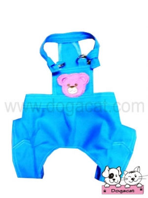 เสื้อสุนัข เสื้อหมา เสื้อน้องหมา เสื้อผ้าสุนัข เสื้อผ้าหมา เสื้อแมว เอี๊ยมหมี สีฟ้า