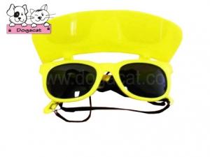 แว่นสุนัข แว่นหมา แว่นน้องหมา แว่นแมว กันแดด สีเหลือง