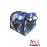 กระเป๋าหมา กระเป๋าแมว ลายนกฮูก สีน้ำเงิน