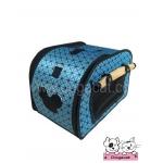 กระเป๋าหมา กระเป๋าแมว ทรงโค้ง square สีน้ำเงิน