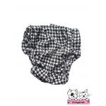 กางเกงอนามัยสุนัข ลายชิโนริ ขาวดำ