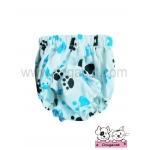 กางเกงอนามัยสุนัข ลายรอยเท้าสุนัข สีฟ้า