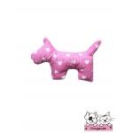 ตุ๊กตาผ้าสุนัข สีชมพูลายมิกกี้