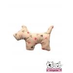 ตุ๊กตาผ้าสุนัข สีน้ำตาลลายมิกกี้