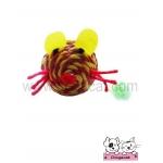 ของเล่นแมว ตุ๊กตาหนูเชือกสาน เหลืองแดง