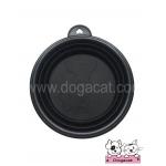 ของใช้สุนัข ของใช้หมา ของใช้แมว ชามสุนัข ชามหมา ชามแมว แบบพับได้ สีดำ