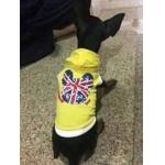 น้องขนมปัง ใส่เสื้อสุนัข เสื้อยืด ลาย london สีเหลือง