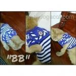 น้องบีบีกับเสื้อสุนัข เสื้อหมา เสื้อน้องหมา เสื้อผ้าหมา เสื้อแมว เสื้อผ้าสุนัข ชุดทหารเรือ สีน้ำเงิน