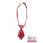 ปลอกคอสุนัขไทด์ polka dot สีแดงจุดขาว