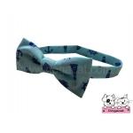 ปลอกคอสุนัขหูกระต่าย สมอเรือสีฟ้า