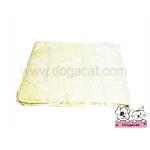 ผ้าชามัวร์สุนัข เช็ดตัวสุนัข สีเหลือง