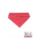 ผ้าพันคอสุนัข ผ้าพันคอแมว ลายดาวแดง