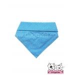 ผ้าพันคอสุนัข ผ้าพันคอแมว สก๊อตเล็กสีฟ้า