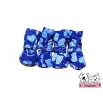 รองเท้าสุนัข สีน้ำเงิน ลายหัวใจสีฟ้า
