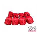 รองเท้าสุนัข สีแดง ลายน้ำ