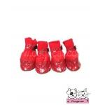 รองเท้าสุนัข square สีแดง