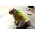 รีวิวเสื้อสุนัข เสื้อหมา เสื้อน้องหมา เสื้อผ้าหมา เสื้อแมว เสื้อผ้าสุนัข ลายดาวแขนกุด สีเหลือง