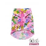 เสื้อสุนัข เสื้อแมว ลายดอก63 สีชมพู