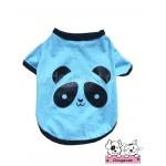 เสื้อสุนัข เสื้อแมว ลายหมีแพนด้า สีฟ้า
