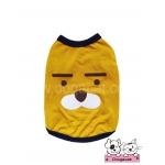 เสื้อสุนัข เสื้อแมว ลายหมี สีเหลืองน้ำตาล