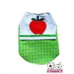 เสื้อสุนัข เสื้อแมว เชิ๊ตลายแอปเปิ้ล โทนเขียว