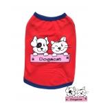 เสื้อสุนัข เสื้อแมว เสื้อตาข่ายสีแดง Dogacat