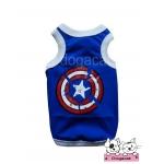เสื้อสุนัข เสื้อแมว เสื้อยืด Captain America