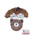 เสื้อสุนัข เสื้อแมว love bear สีน้ำตาล
