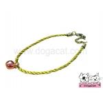 สร้อยคอสุนัข สร้อยคอแมว สร้อยคอหมา เชือกเกลียวจี้เพชรV2 สุนัข แมว สีทอง
