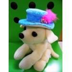 ตัวอย่าง หมวกสุนัข ทรงปีกบาน สีฟ้า