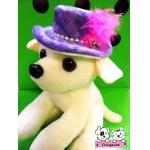 ตัวอย่าง หมวกสุนัข ทรงปีกบาน สีม่วง