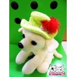ตัวอย่าง หมวกสุนัข ทรงปีกบาน สีเขียว