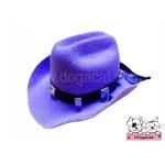 หมวกสุนัข หมวกหมา หมวกแมว หมวกน้องหมา คาวบอยV3 สีม่วง