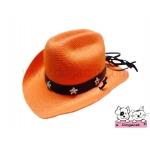 หมวกสุนัข หมวกหมา หมวกแมว หมวกน้องหมา คาวบอยV3 สีส้ม