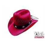 หมวกสุนัข หมวกหมา หมวกแมว หมวกน้องหมา คาวบอยV3 สีแดง