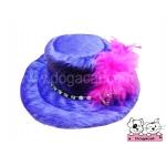 หมวกสุนัข หมวกหมา หมวกน้องหมา หมวกแมว ทรงปีกบาน สีม่วง