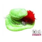 หมวกสุนัข หมวกหมา หมวกน้องหมา หมวกแมว ทรงปีกบาน สีเขียว