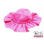 หมวกสุนัข ทรงหมวกตุ๊กตา สีชมพู