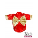 เสื้อสุนัข เสื้อแมว ชุดกิโมโนญี่ปุ่น สีแดง