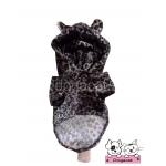 เสื้อสุนัข เสื้อแมว ชุดลายเสือน้ำตาลเข้ม มี hood