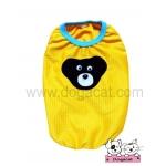 เสื้อสุนัข เสื้อแมว ตาข่ายหมี สีเหลือง