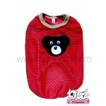 เสื้อสุนัข เสื้อแมว ตาข่ายหมี สีแดง