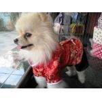 reviews เสื้อสุนัข ชุดจีน สีแดง